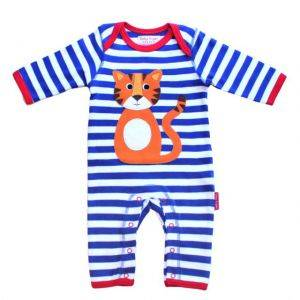 Organic Cotton Tiger Applique Sleepsuit