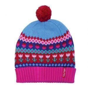 Knitted Cotton Hat Tulip Design