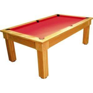 Bespoke Pool Table Polished Oak