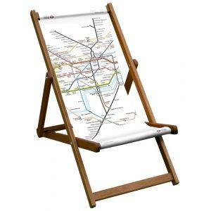 Tube Map Of London Deck Chair
