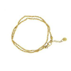 18CT Gold Plated Faceted Bead Wrap Bracelet