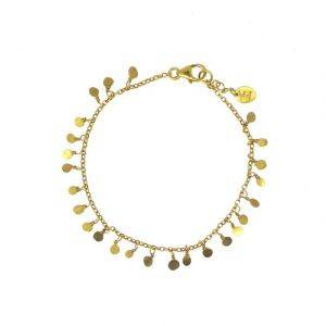 18CT Gold Plated Tiny Hand-Formed Sequin Bracelet