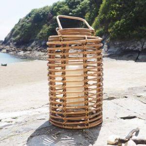 Natural Bamboo Hurricane Lantern