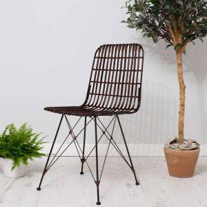 Rattan Dining Chair Brown