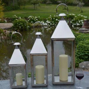 Stainless Steel Pillar Lantern Topsham