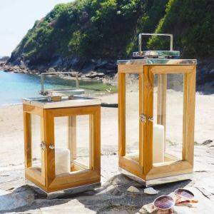 Wooden Candle Lantern Sandy Cove