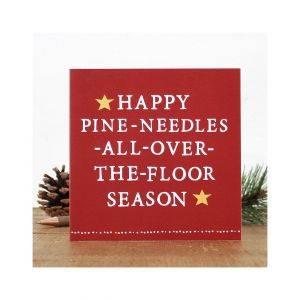 Pine Needles Christmas Card